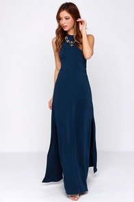 Keepsake Adore You Navy Blue Maxi Dress at Lulus.com!