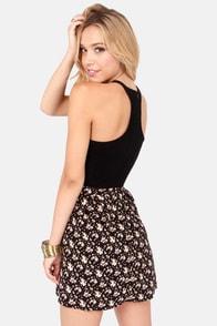 Element Eden Claire Black Floral Print Dress at Lulus.com!