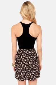 Element Eden Claire Black Floral Print Dress at Lulus.com!