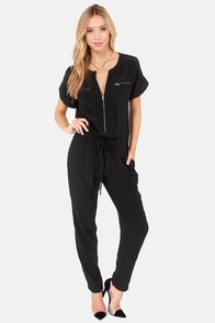 Abandon Zip Black Jumpsuit at Lulus.com!
