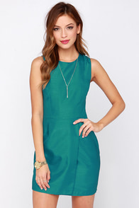 Keepsake Wildfire Teal Dress at Lulus.com!