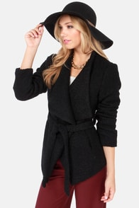 In Any Event Black Coat at Lulus.com!