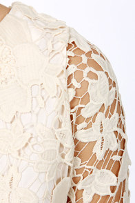 Darling Jenny Cream Lace Sheath Dress at Lulus.com!