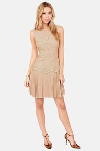 Darling Felicia Blush Lace Dress at Lulus.com!