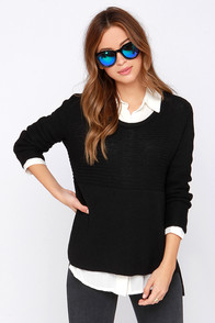 Ever the Stylish Black Sweater at Lulus.com!