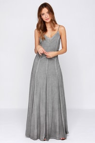 Black Swan Bells Grey Maxi Dress at Lulus.com!