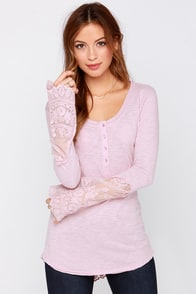 Black Swan Willow Blush Long Sleeve Top at Lulus.com!