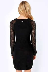 Element Eden Lili Black Sweater Dress at Lulus.com!