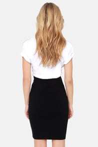 Sketched Out Black Pencil Skirt at Lulus.com!