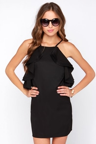 On Fuego Black Backless Dress at Lulus.com!