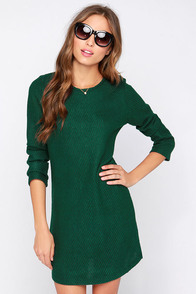 Pike Green Long Sleeve Sweater Dress at Lulus.com!