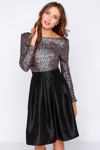 Wyldr First Class Multi Sequin Crop Top at Lulus.com!