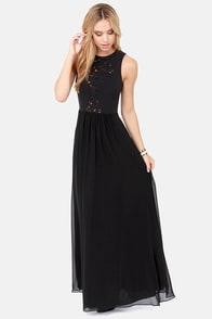 Lumier Fire and Entice Black Maxi Dress at Lulus.com!