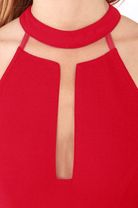 Lumier Where's the Fire? Cutout Red Maxi Dress at Lulus.com!