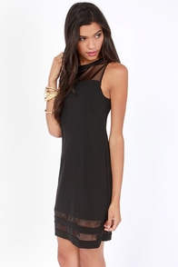 Lumier Wealthy and Wise Black Shift Dress at Lulus.com!