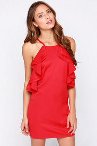 On Fuego Red Backless Dress at Lulus.com!
