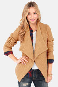 In Any Event Brown Coat at Lulus.com!