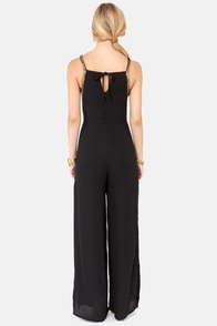 Lumier Slink of An Eye Black Jumpsuit at Lulus.com!