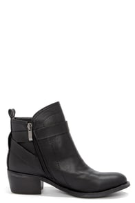 Good Choice Bed Rock Black Ankle Boots at Lulus.com!