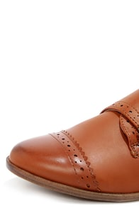 Restricted Boston Whiskey Brown Brogue Flats at Lulus.com!