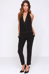 Halt Up Black Halter Jumpsuit at Lulus.com!