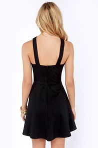 Cross Over Backless Black Dress at Lulus.com!