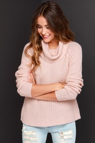 Make It Known Blush Sweater at Lulus.com!