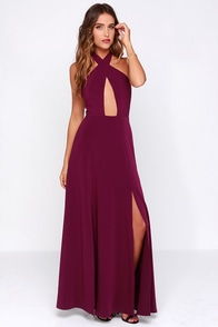 Style Stalker Zero Hour Burgundy Maxi Dress at Lulus.com!
