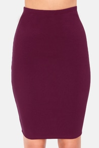 Sketched Out Burgundy Pencil Skirt at Lulus.com!
