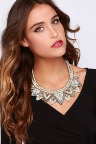 Jewel Around Ivory Beaded Statement Necklace at Lulus.com!