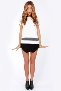 What a Strip! Ivory Top at Lulus.com!