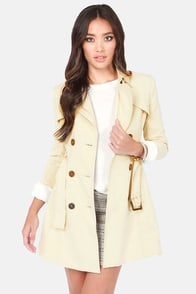 Ladakh Get Smart Light Beige Trench Coat at Lulus.com!
