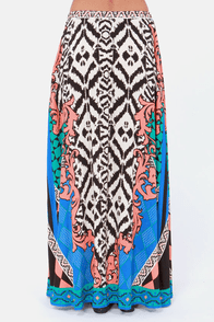 Wild's Play Multi Print Maxi Skirt at Lulus.com!