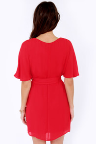 Rise From the Sashes Red Dress at Lulus.com!