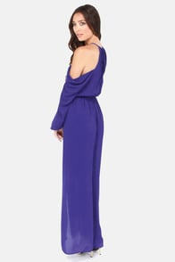 Steal the Shoulder Royal Blue Maxi Dress at Lulus.com!