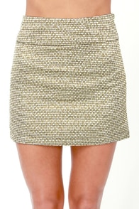 Costa Blanca Merry Me Gold Brocade Skirt at Lulus.com!