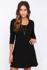 Cocoa and Kisses Black Sweater Dress at Lulus.com!