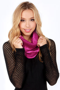 O'Neill Chair 22 Burgundy and Pink Circle Scarf at Lulus.com!