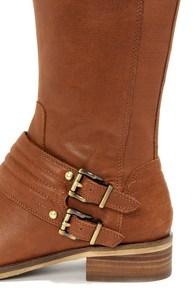 Jessica Simpson Elmont Rich Bourbon Leather Riding Boots at Lulus.com!