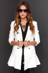 Evening in London Ivory Frock Coat at Lulus.com!