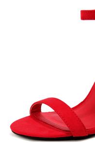 LuLu*s Elsi Ruby Red Single Strap Heels at Lulus.com!