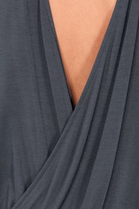 Cue For the Show Backless Grey Top at Lulus.com!