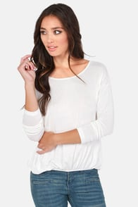 Cue For the Show Backless Ivory Top at Lulus.com!