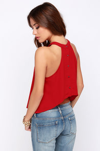 Spike the Punch Red Crop Top at Lulus.com!