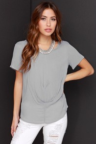 Anything Goes Grey Top at Lulus.com!