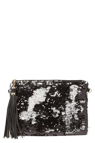Searched the Seas Black and Silver Sequin Clutch at Lulus.com!