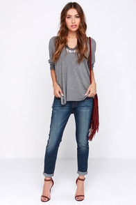 Flying Monkey His Place Cropped Dark Wash Boyfriend Jeans at Lulus.com!