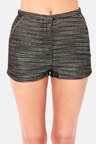 Gild to be Here Black and Gold Shorts at Lulus.com!