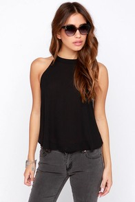 Spike the Punch Black Crop Top at Lulus.com!