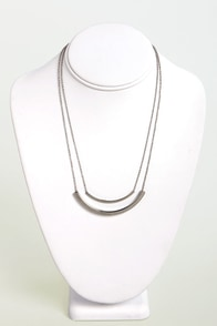 Crescent-sational Silver Necklace at Lulus.com!